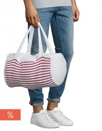 Striped Jersey Duffel Bag Sunset